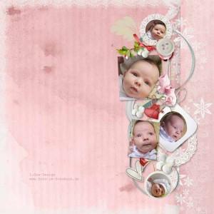 детская фотокнига для девочки крещение