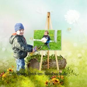 kreative Idee für fotobuch kinder fotomontage bestellen