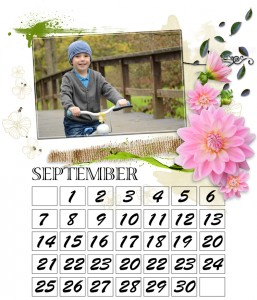 fotokalender gestaltung beispiel