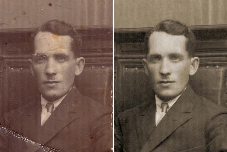 defekte entfernen von alte bilder